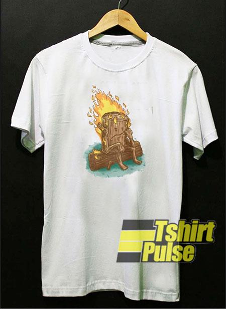 Crying Log Tree t-shirt for men and women tshirt