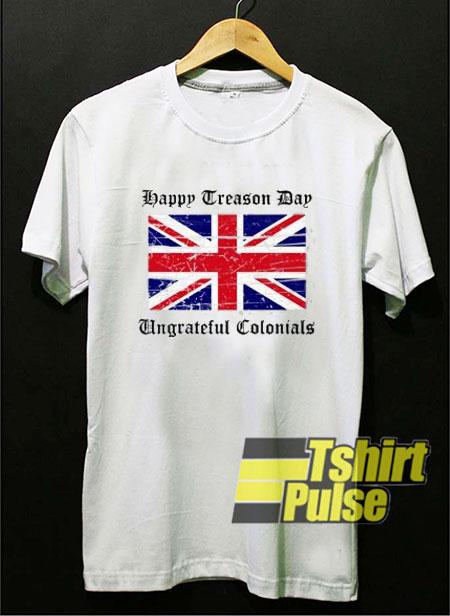 England Flag Happy Treason t-shirt for men and women tshirt
