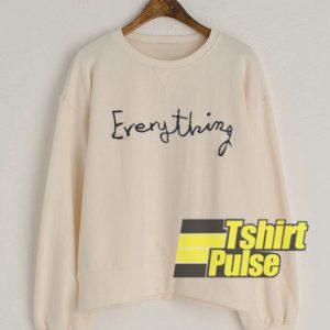 Everything Cream sweatshirt