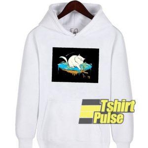 Flat Earth Cat hooded sweatshirt clothing unisex hoodie