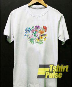 Flower Garden t-shirt for men and women tshirt