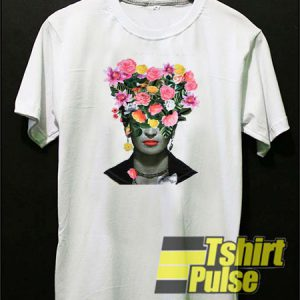Frida Kahlo Flowers Mexican t-shirt for men and women tshirt