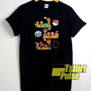Friends Satoshi Pokemon Yagami t-shirt for men and women tshirt