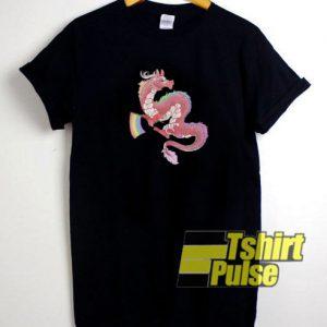Gay Pride Eastern Dragon t-shirt for men and women tshirt