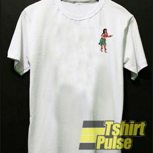 Hula Girl Printed t-shirt for men and women tshirt