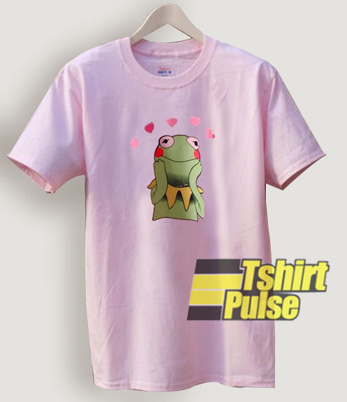 Kermit In Love Light Pink t-shirt for men and women tshirt