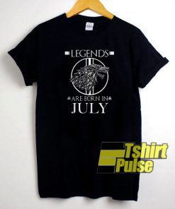 Legends Are Born in July t-shirt for men and women tshirt