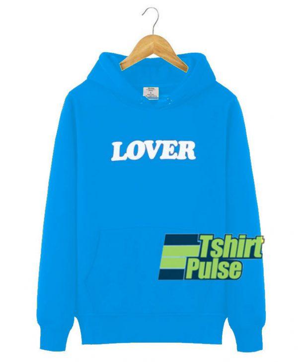 Lover Blue hooded sweatshirt clothing unisex