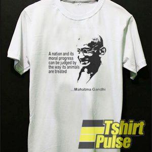 Mahatma Gandhi Quotes t-shirt for men and women tshirt