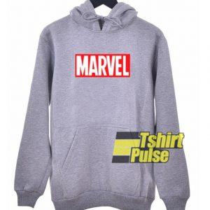 Marvel Logo Grey hooded sweatshirt clothing unisex hoodie