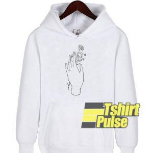 Maryanne Hand Flower hooded sweatshirt clothing unisex hoodie