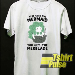 Mermaid With The Knife Mess t-shirt for men and women tshirt
