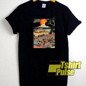 Mount Fuji Rice Field Japan t-shirt for men and women tshirt