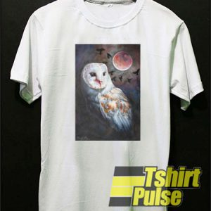 Owl of the Blood Moon t-shirt for men and women tshirt