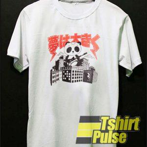 Panda Playing Guitar t-shirt for men and women tshirt