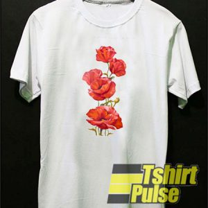 Poppies t-shirt for men and women tshirt