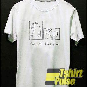 Porktrait Lambscape t-shirt for men and women tshirt