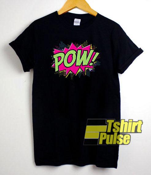 Pow Cartoon t shirt for men and women tshirt