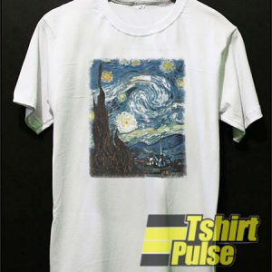 Starry Night t-shirt for men and women tshirt