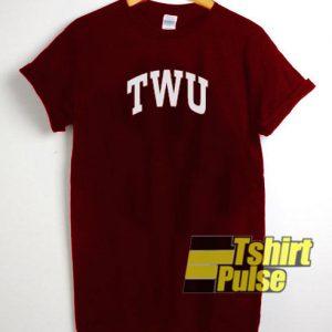 Twu Maroon t-shirt for men and women tshirt