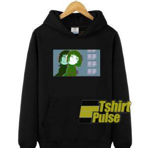 Vaporwave Anime Girl hooded sweatshirt clothing unisex