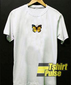 Yellow Butterfly t-shirt for men and women tshirt