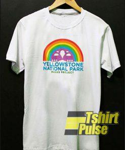 Yellow Stone National Park Rainbow t-shirt for men and women tshirt