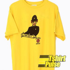 Clown Think Safety t-shirt for men and women tshirt