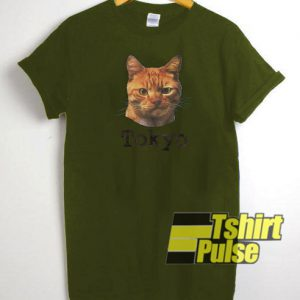 Funky Cat Tokyo t-shirt for men and women tshirt