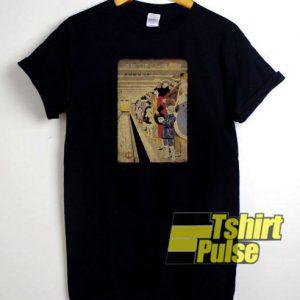 Japanese Retro Subway Poster t-shirt for men and women tshirt