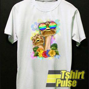 Ostrich Hawaii t-shirt for men and women tshirt