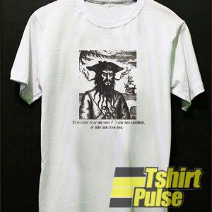 Pirate Blackbeard t-shirt for men and women tshirt
