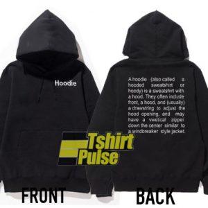 Vatement Hoodie Definition hooded sweatshirt clothing unisex