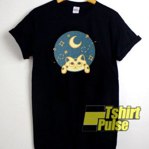 Veilleuse Cat Night t-shirt for men and women tshirt
