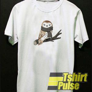 Winter Owl t-shirt for men and women tshirt