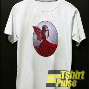 Winter Rose Butterfly Fairy t-shirt for men and women tshirt