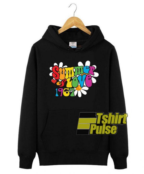 1967 Summer of Love hooded sweatshirt clothing unisex