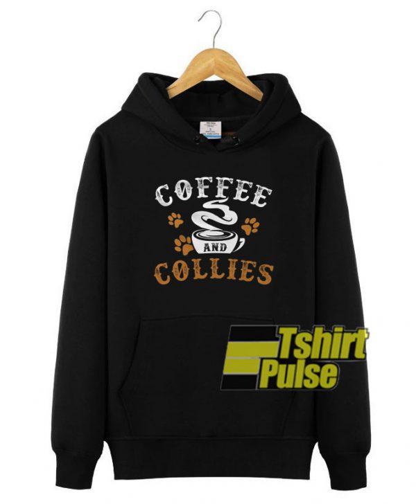 Coffee and Collies hooded sweatshirt clothing unisex hoodie