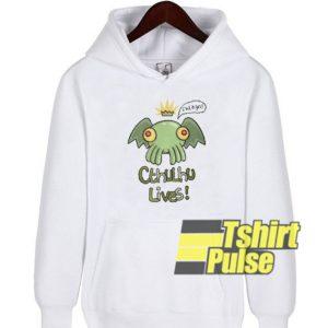 Cthulhu Lives hooded sweatshirt clothing unisex hoodie