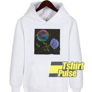 Disco Retro Ball Roses hooded sweatshirt clothing unisex hoodie