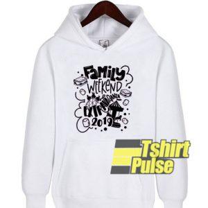 Family Weekend hooded sweatshirt clothing unisex hoodie