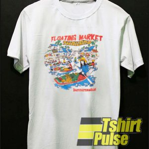 Floating Market Thailand t-shirt for men and women tshirt