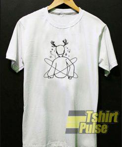 Galaxy Deer Boy t-shirt for men and women tshirt