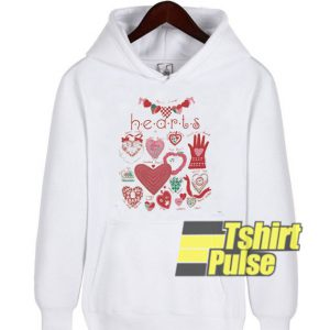Hearts hooded sweatshirt clothing unisex hoodie
