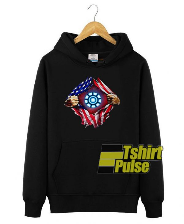 Iron Man Arc Reactor hooded sweatshirt clothing unisex hoodie