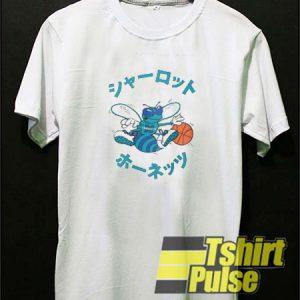 Japanese Charlotte Hornets t-shirt for men and women tshirt