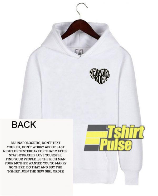 New Girl Order White hooded sweatshirt clothing unisex hoodie