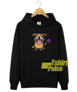 Pug Bring Me Flower hooded sweatshirt clothing unisex