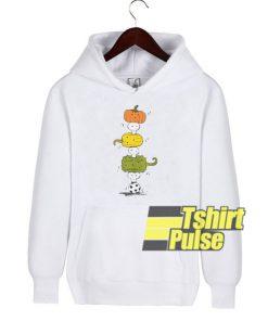 Pumpkin Skull Totem Pole hooded sweatshirt clothing unisex