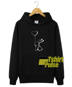 Rabbit With Ballon hooded sweatshirt clothing unisex